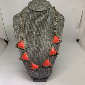 J Crew orange and crystal necklace